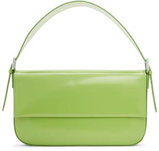 BY FAR Green Patent Manu Shoulder Bag