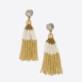 J.Crew Factory Two-tone beaded tassel earrings