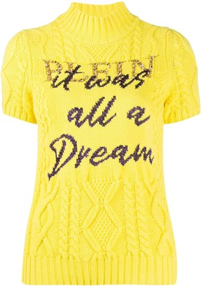 Philipp Plein Slogan Print Short-Sleeve Jumper