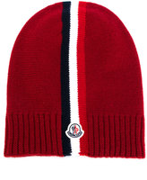Moncler tri-stripe knitted hat