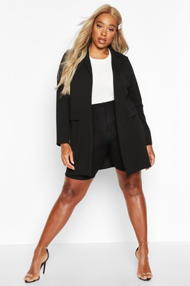 boohoo Plus Pocket Detail Boyfriend Blazer