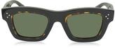 Celine GABY CL 41396/S T7D70 Havana Acetate Square Frame Unisex Sunglasses