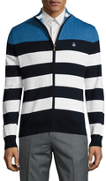 Brooks Brothers Marl Striped Cotton Sweater