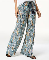 Volcom Juniors' Sun Spell Printed Wide-Leg Soft Pants