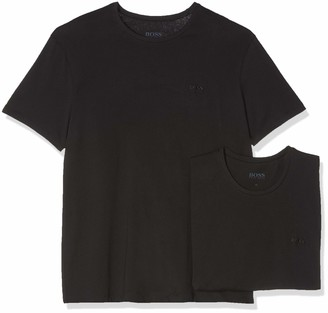 HUGO BOSS Men's T-Shirt RN CO/EL' Black-001 XX-Large (Pack of 2)