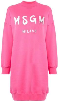 MSGM Logo Sweater Dress