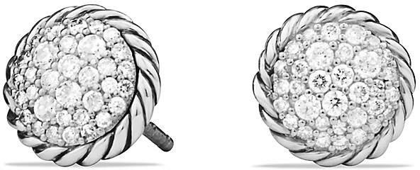 David Yurman Ch'telaine Pavé Earring with Diamonds