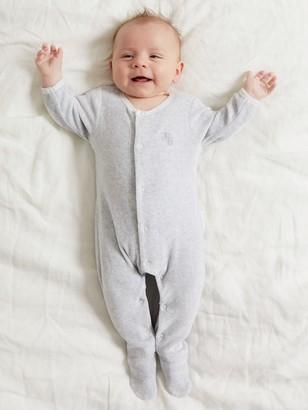 Purebaby Organic Cotton Velour Sleepsuit