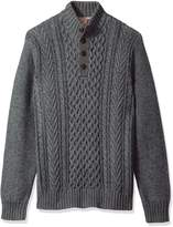 Arrow Men's American Heritage Cable Knit Sweater, Pewter, X-Large