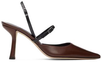 BY FAR Brown and Black Nappa Tiffany Slingback Heels