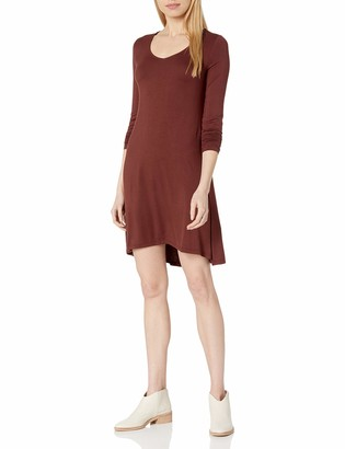 Amazon Brand - Daily Ritual Women's Jersey Long-Sleeve V-Neck Dress