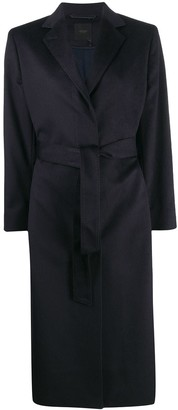 Agnona Belted Tailored Cashmere Coat