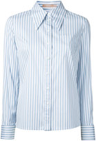 Michael Kors striped shirt - women - Cotton/Polyamide/Spandex/Elastane - 2