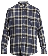 Ami Long-sleeved plaid shirt