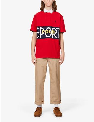 Polo Ralph Lauren Logo-print cotton-jersey short sleeve rugby shirt