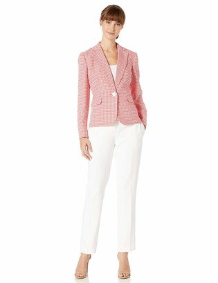Le Suit LeSuit Women's 1 Button Notch Collar Slim Pant Suit