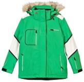 Perfect Moment Green and White Qanuk Pro III Ski Jacket
