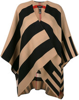 Burberry striped open cardigan - women - Merino - One Size