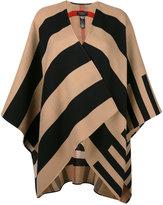 Burberry striped open cardigan
