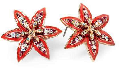 Betsey Johnson Flower Stud Earring