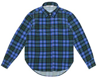Msgm Kids Checked crApe shirt