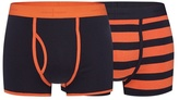 J By Jasper Conran Pack Of Two Navy And Orange Striped Print Keyhole Trunks