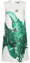 Dolce & Gabbana Crystal-embellished, Embroidered Printed Jacquard Dress