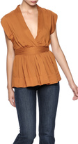 Gat Rimon V-Neck Tie Top