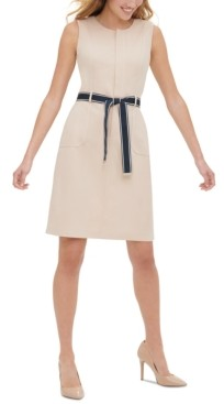 Tommy Hilfiger Belted Sheath Dress