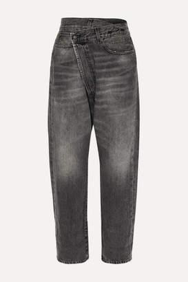 R 13 Asymmetric Boyfriend Jeans - Black