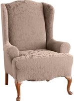 Sure Fit 39614 1 Peice Stretch Jacquard Damask Wing Chair