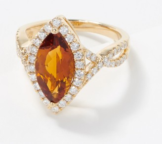 Marquise-Cut Gemstone & Diamond Ring, 2.00 cttw, 14K Gold