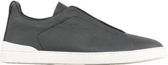 Ermenegildo Zegna Deer Leather Triple Stitch Sneaker