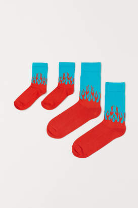 H&M Adult and Child Socks - Turquoise