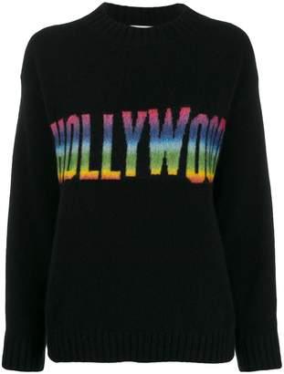 Laneus rainbow Hollywood embroidered jumper