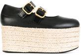 Marni buckle platform pumps - women - Calf Leather/Leather/rubber - 36