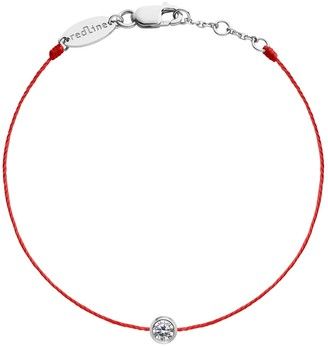 Redline Pure String Diamond Bracelet - Red and White Gold