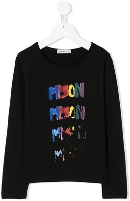 Missoni Kids fade out logo print T-shirt