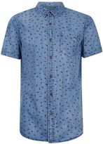 Globe Blue Printed Short Sleeve Shirt*