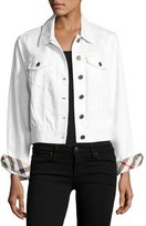 Burberry Timberdale Jean Jacket, White