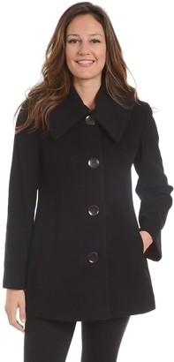 Fleet Street Women's Single-Breasted Wool Blend Coat