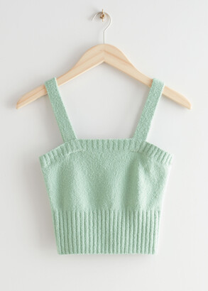 And other stories Cropped Fitted Knit Top
