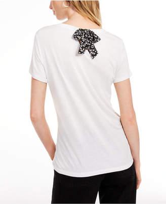 Maison Jules Tie-Back Solid T-Shirt
