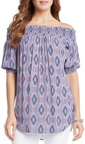 Karen Kane Diamond Print Off-The-Shoulder Top