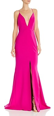 Aidan Mattox Crepe Trumpet Gown - 100% Exclusive
