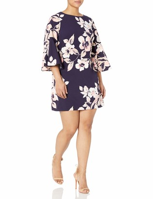Eliza J Women's Size Bell Sleeve Floral Dress
