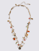 M&S Collection Twigs & Charm Necklace