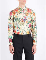 Gucci Flora Snake Regular-fit Silk-twill Shirt