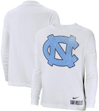 Nike Women's White North Carolina Tar Heels Performance Long Sleeve T-Shirt