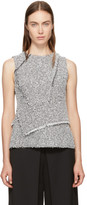 3.1 Phillip Lim White & Black Wrap Waist Tank Top
